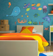 Splish Splash Boy Peel and Place Wall Decals