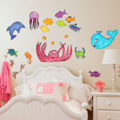 Splish Splash Girl Peel and Place Wall Decals