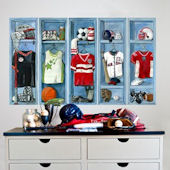 Sports Lockers Peel and Place Wall Decals