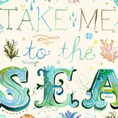 Take Me To The Sea Posters That Stick Wall Decal