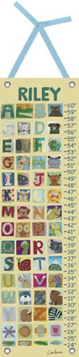 Canvas Animal Alphabet Growth Chart - Kids Wall Decor Store