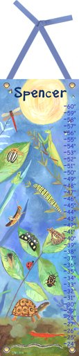 Canvas Backyard Bugs Growth Chart - Wall Sticker Outlet