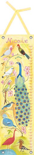 Canvas Birds of a Feather Growth Chart - Wall Sticker Outlet