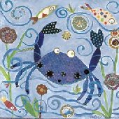 Blue Crab Canvas Wall Art
