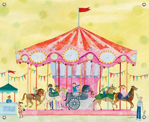 Carousel Wall Mural - Wall Sticker Outlet