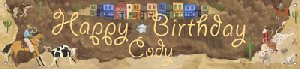 Cowboy Birthday Banner - Kids Wall Decor Store