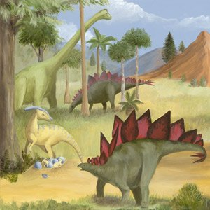 Dinosaur Valley Wall Canvas Art - Wall Sticker Outlet