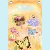 Canvas Exotic Butterflies Growth Chart