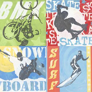 Extreme Sports Wall Canvas Art - Wall Sticker Outlet