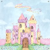 Princess wall stickers decals princess theme wall murals for Fairy castle wall mural