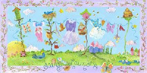 Fairy Laundry Wall Canvas Art - Wall Sticker Outlet