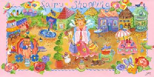 Fairy Shopping Wall Canvas Art - Wall Sticker Outlet