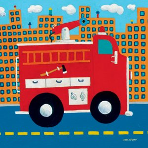Fire Truck - Kids Wall Decor Store