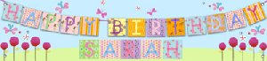 Flower Birthday Banner - Kids Wall Decor Store
