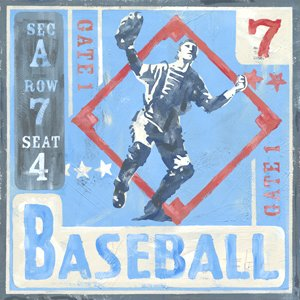 Game Ticket Baseball Wall Canvas Art - Wall Sticker Outlet