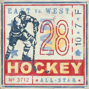 Game Ticket Hockey Wall Canvas Art - Wall Sticker Outlet