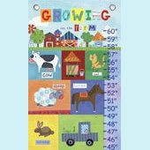 Canvas Growing up on The Farm Growth Chart