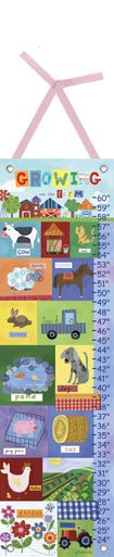 Canvas Growing up on The Farm Growth Chart - Wall Sticker Outlet