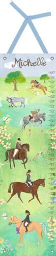Canvas Horse Show Growth Chart - Wall Sticker Outlet