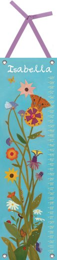 Canvas How Does My Garden Grow Growth Chart - Wall Sticker Outlet