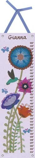 Canvas Hummingbird Growth Chart - Wall Sticker Outlet