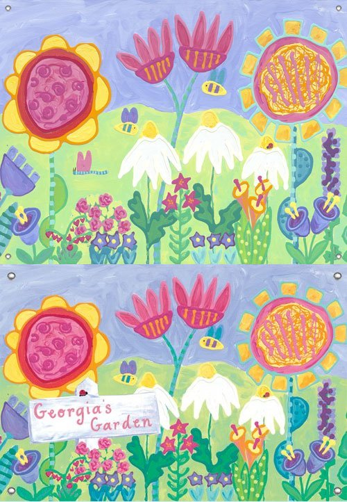 In My Garden Wall Mural - Kids Wall Decor Store