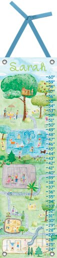 Canvas Inspired Play Growth Chart - Wall Sticker Outlet