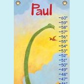 Canvas Long Neck Dinosaur Growth Chart