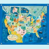 Map of USA Wall Mural