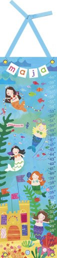 Canvas Mermaid Perfomance Growth Chart - Wall Sticker Outlet