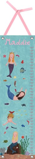 Canvas Mermaids Growth Chart - Wall Sticker Outlet