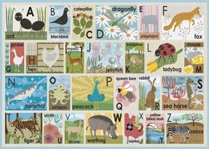 Modern Alphabet Multiple Colors Personalized - Kids Wall Decor Store