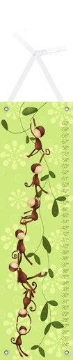 Canvas Monkeying Around Green Growth Chart - Wall Sticker Outlet