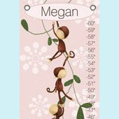 Canvas Monkeying Around Pink Growth Chart