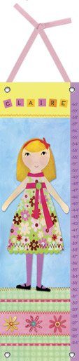 Canvas My Girl Three Growth Chart - Wall Sticker Outlet