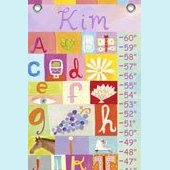 Canvas My Name Is GIRL Growth Chart
