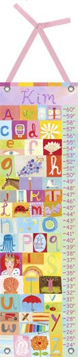 Canvas My Name Is GIRL Growth Chart - Wall Sticker Outlet