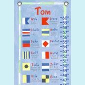 Canvas Nautical Flags Growth Chart