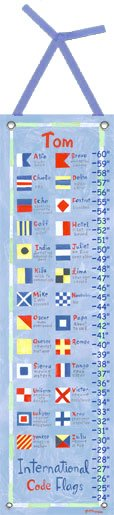 Canvas Nautical Flags Growth Chart - Wall Sticker Outlet
