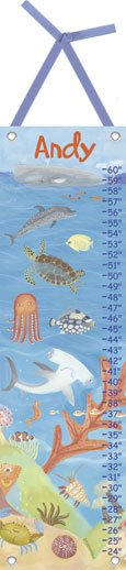 Canvas Ocean World Growth Chart - Wall Sticker Outlet