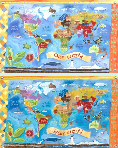 Our World Wall Mural - Kids Wall Decor Store