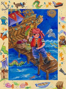 Pirate Adventurer Wall Canvas Art - Wall Sticker Outlet