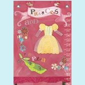 Canvas Princess and The Pea Brunette Growth Chart