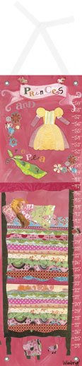 Canvas Princess and The Pea Brunette Growth Chart - Wall Sticker Outlet