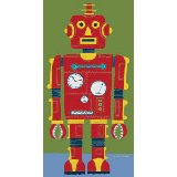 Red Robot Wall Canvas Art