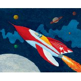 Rocket Man Wall Canvas Art
