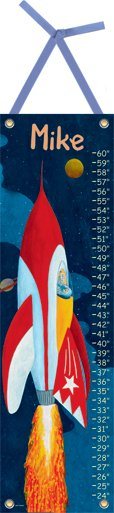 Canvas Rocket Man Growth Chart - Wall Sticker Outlet