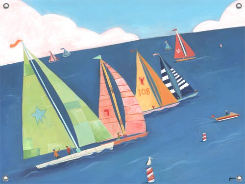 Sailing Regatta Wall Mural - Wall Sticker Outlet