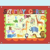 Saturday at The Circus Wall Mural