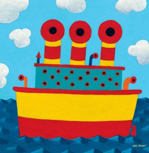 Tugboat Wall Canvas Art - Wall Sticker Outlet